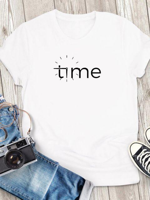T-shirt męski biały Time ZUZU