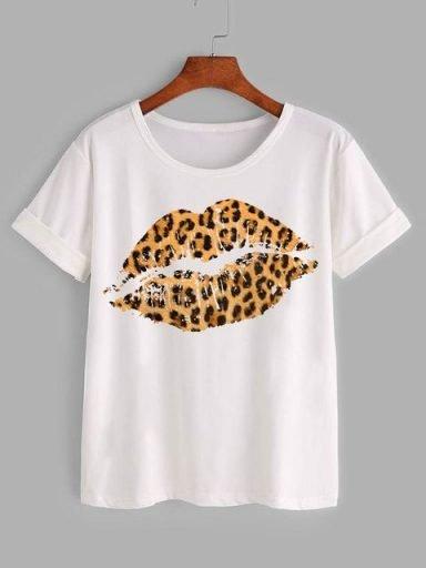 T-shirt biały Wild Kiss Katarina Ivanenko