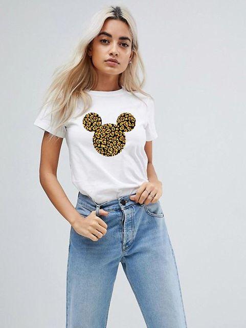 T-shirt biały Wild Mickey ZUZU