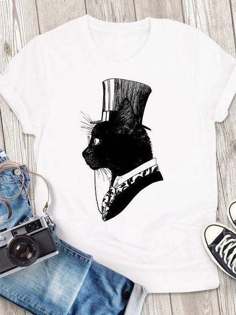 T-shirt męski biały Arystokot ZUZU