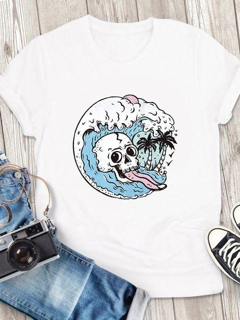 T-shirt męski biały Fala ZUZU
