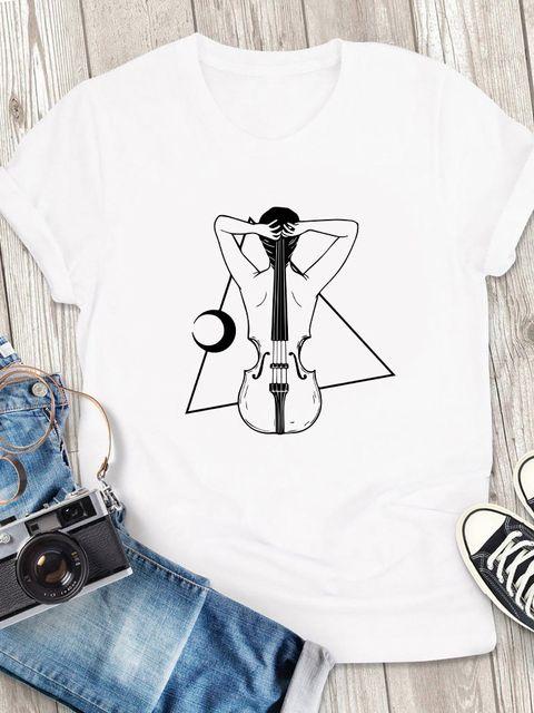 T-shirt męski biały Harmonia ZUZU