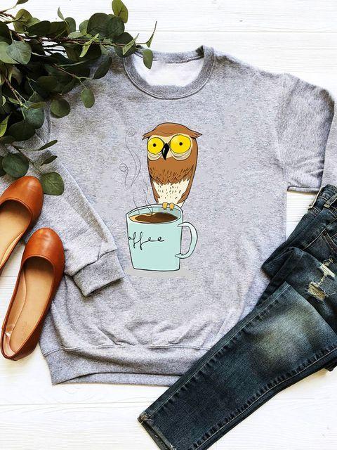 Bluza w kolorze szarym Good coffee Love&Live