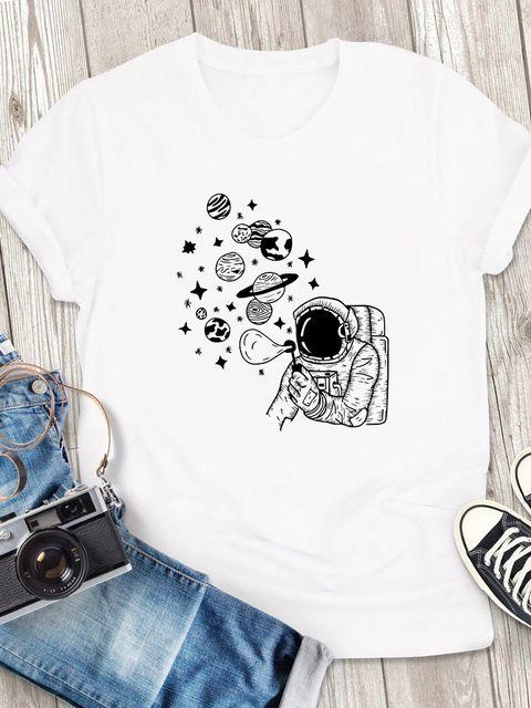 T-shirt męski biały Bąbelki ZUZU