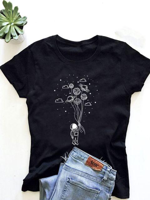 T-shirt męski czarny Kosmos w twoich rękach ZUZU