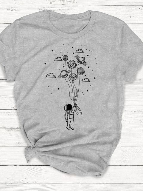 T-shirt męski szary Kosmos w twoich rękach ZUZU