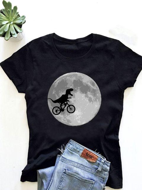 T-shirt męski czarny Księżyc ZUZU