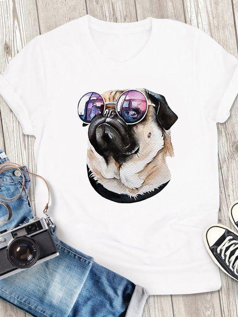 T-shirt męski biały Pink glasses ZUZU