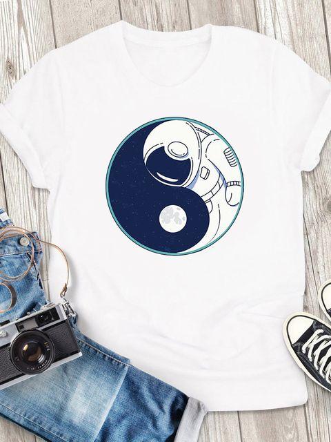T-shirt męski biały Część wszechszwiata ZUZU