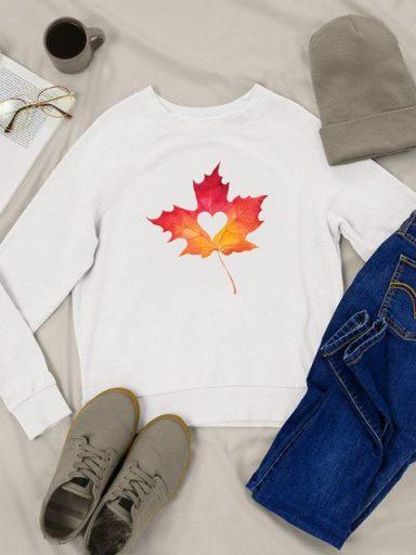 Bluza w kolorze białym Jesienny liść Love&Live (zdjęcie 16)