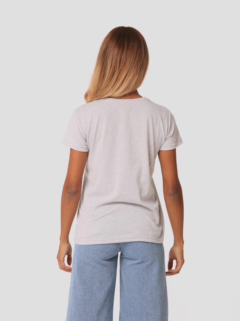 T-shirt szary z okrągłym dekoltem ZUZU