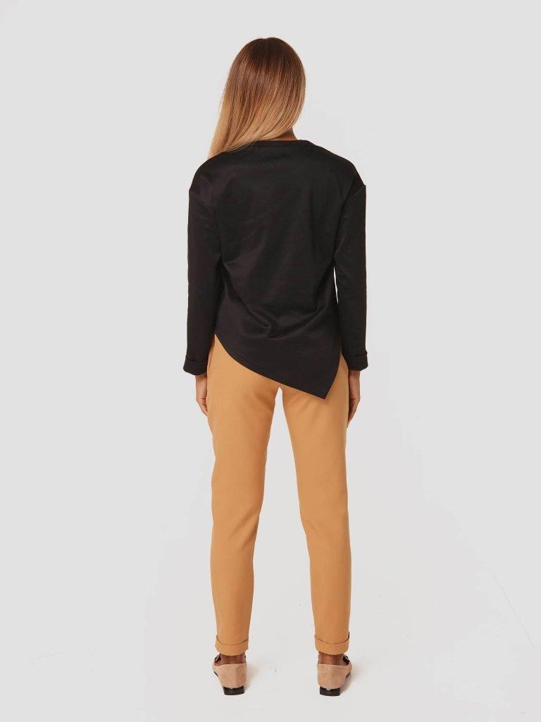 Karmelowe spodnie z gumką Love&Live (zdjęcie 4)