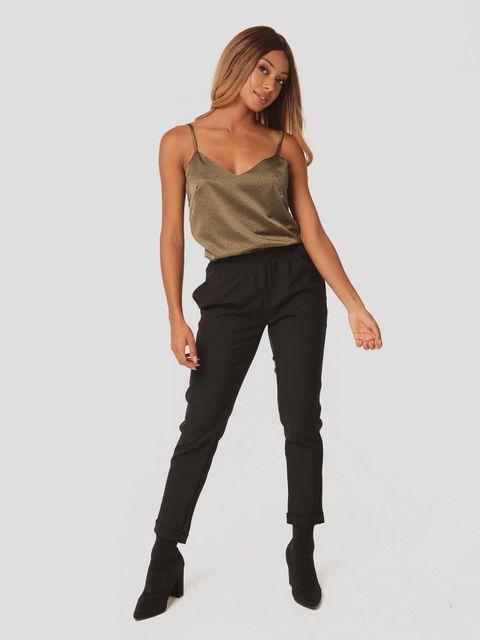Czarne spodnie z gumką Love&Live