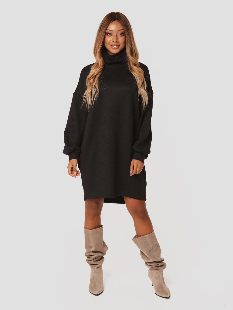 Czarna sukienka midi z odkrytymi plecami Katarina Ivanenko (zdjęcie 2)