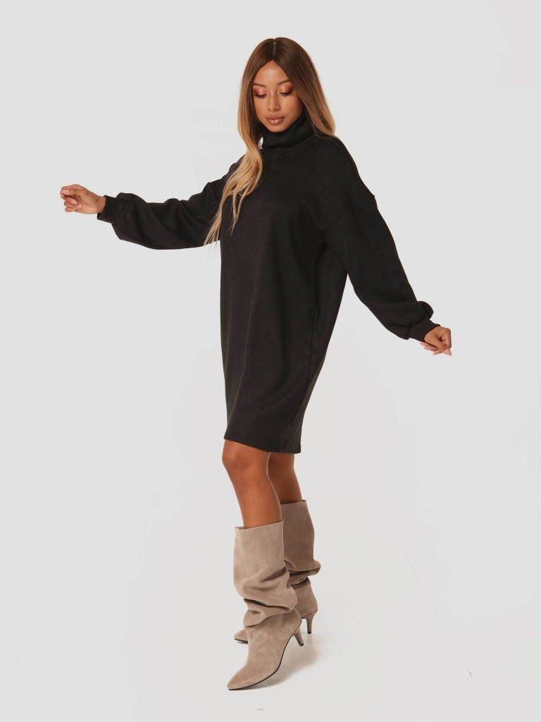 Czarna sukienka midi z odkrytymi plecami Katarina Ivanenko (zdjęcie 3)