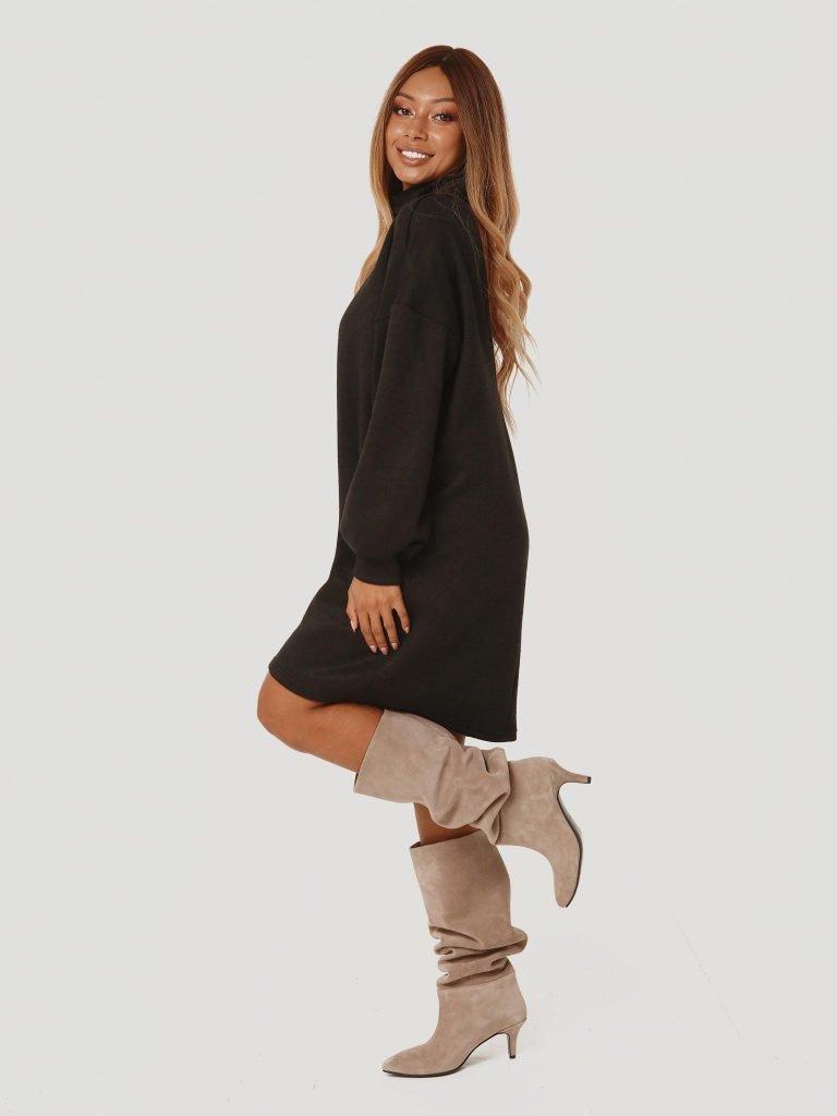 Czarna sukienka midi z odkrytymi plecami Katarina Ivanenko (zdjęcie 4)