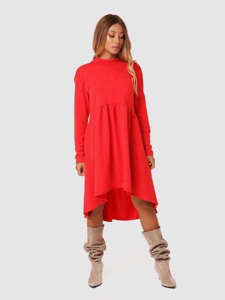 Czerwona sukienka mini Love&Live (zdjęcie 2)