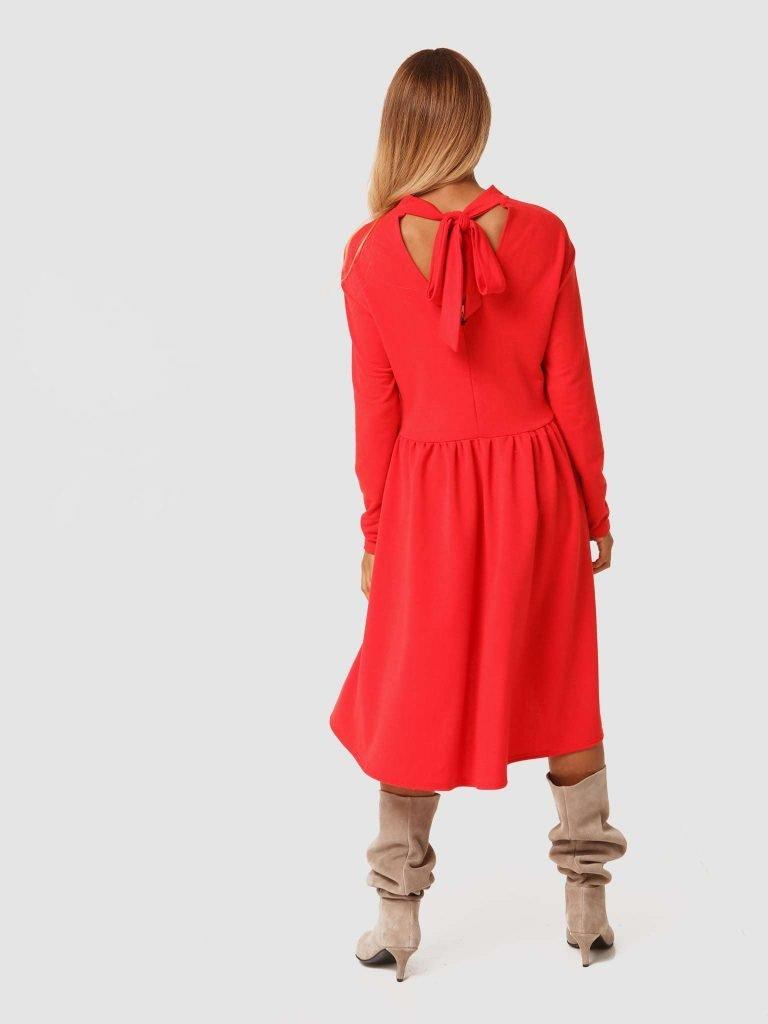 Czerwona sukienka mini Love&Live (zdjęcie 4)