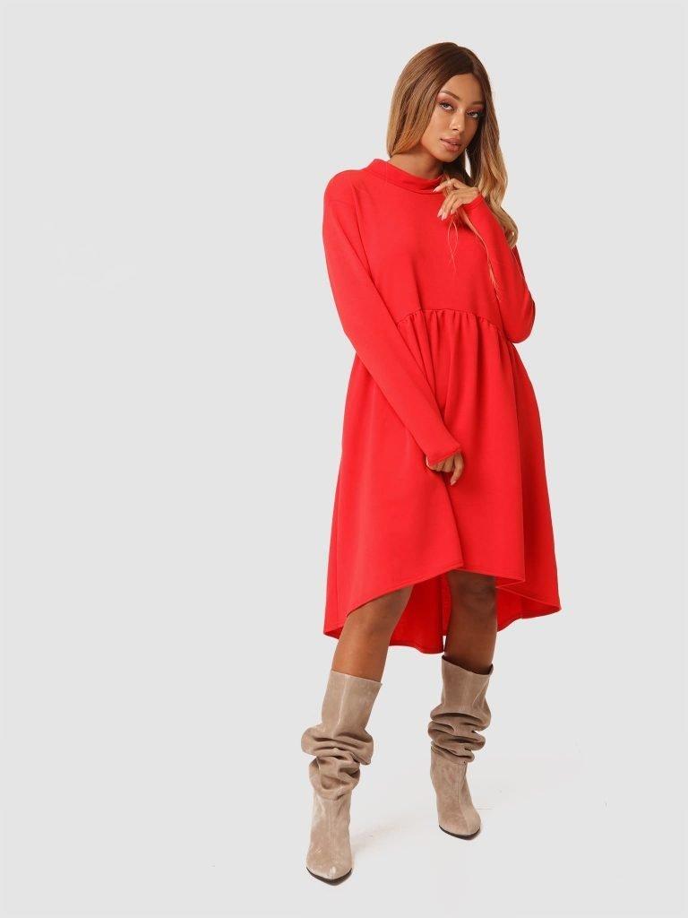 Czerwona sukienka mini Love&Live (zdjęcie 3)