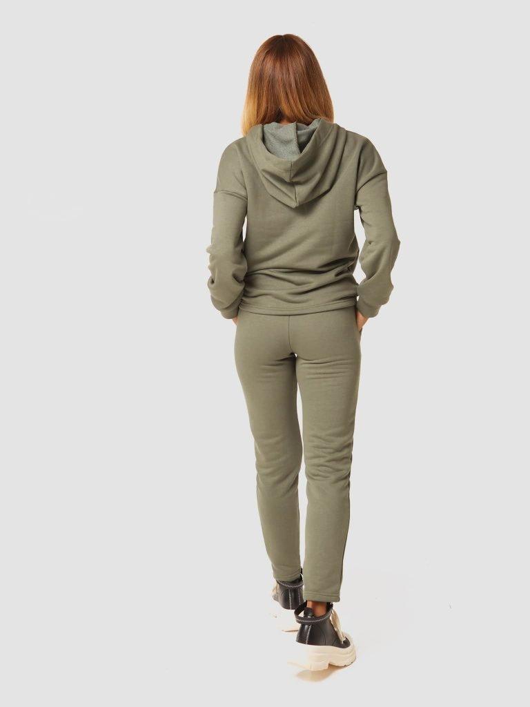 Zestaw dresowy w kolorze khaki (bluza, spodnie) Katarina Ivanenko