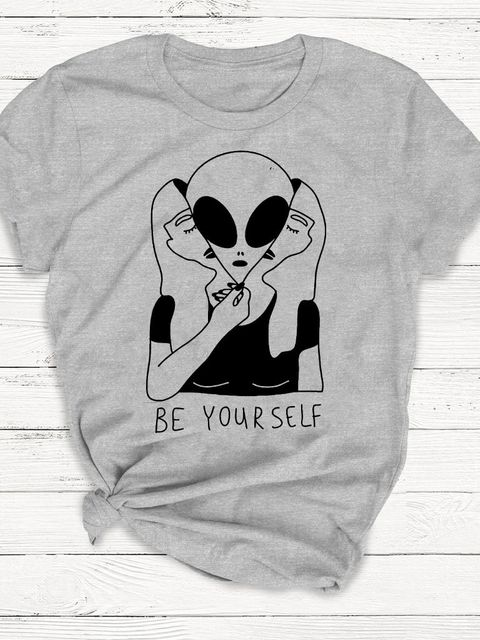 T-shirt męski szary Be yourself ZUZU