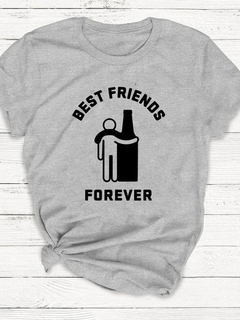 T-shirt męski szary Best friends forever ZUZU