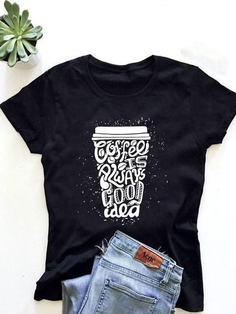 T-shirt męski czarny Coffee is always a good idea - 2 ZUZU