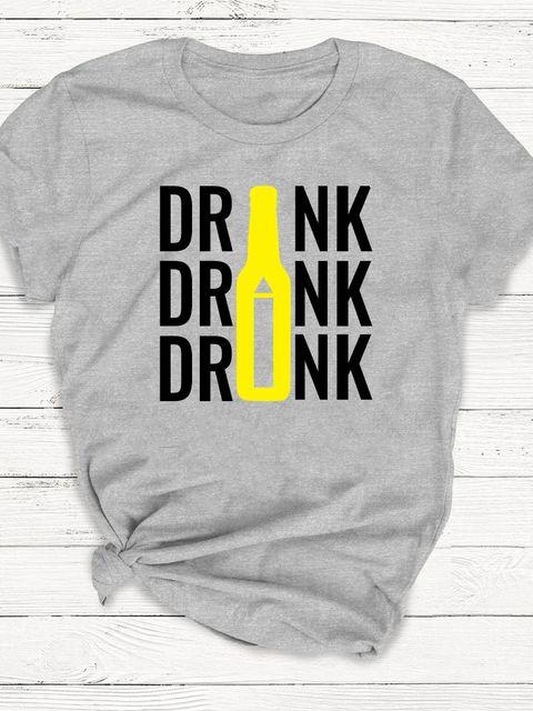 T-shirt męski szary Drink ZUZU