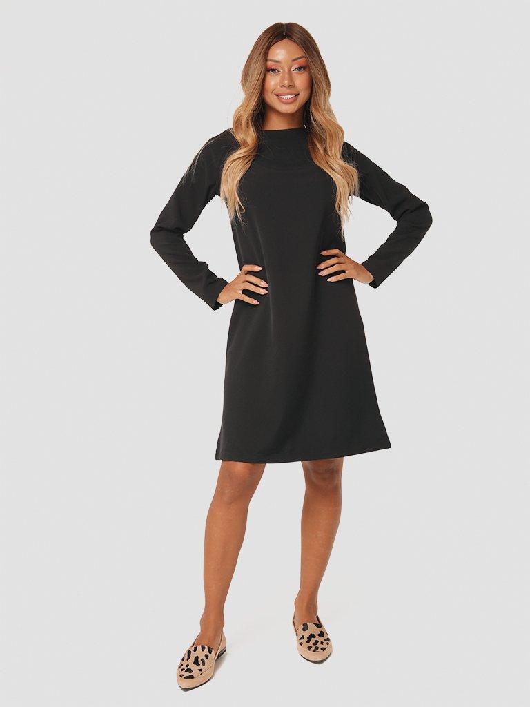 Trapezowa sukienka mini w kolorze czarnym Katarina Ivanenko (zdjęcie 2)