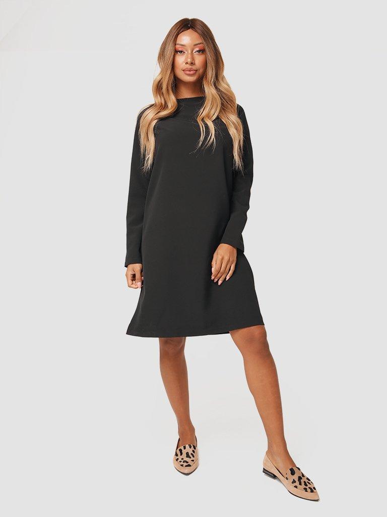 Trapezowa sukienka mini w kolorze czarnym Katarina Ivanenko (zdjęcie 3)