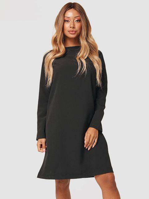 Trapezowa sukienka mini w kolorze czarnym Katarina Ivanenko