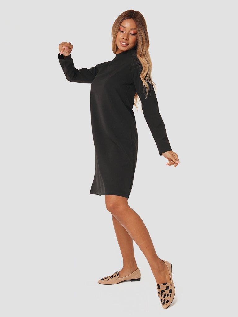 Trapezowa sukienka mini w kolorze czarnym Katarina Ivanenko (zdjęcie 4)