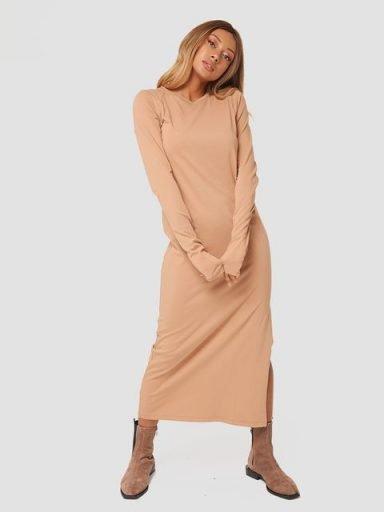 Sukienka midi w kolorze beżowym Love&Live