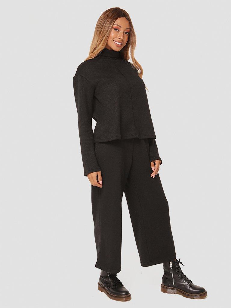 Czarny zestaw z angory (sweter, spodnie) Katarina Ivanenko (zdjęcie 4)