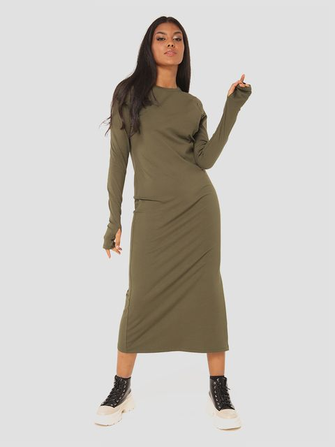 Sukienka midi w kolorze khaki Love&Live