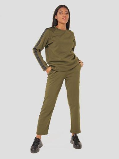 Zestaw w kolorze khaki (bluza, spodnie) Katarina Ivanenko