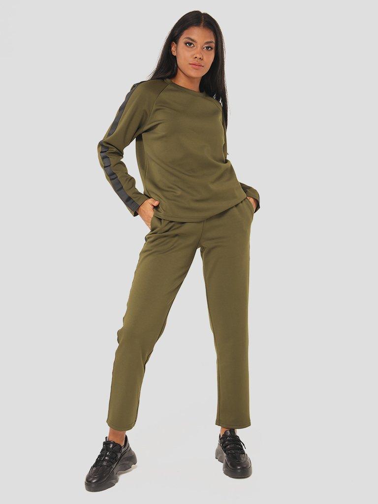 Zestaw w kolorze khaki (bluza, spodnie) Katarina Ivanenko (zdjęcie 2)