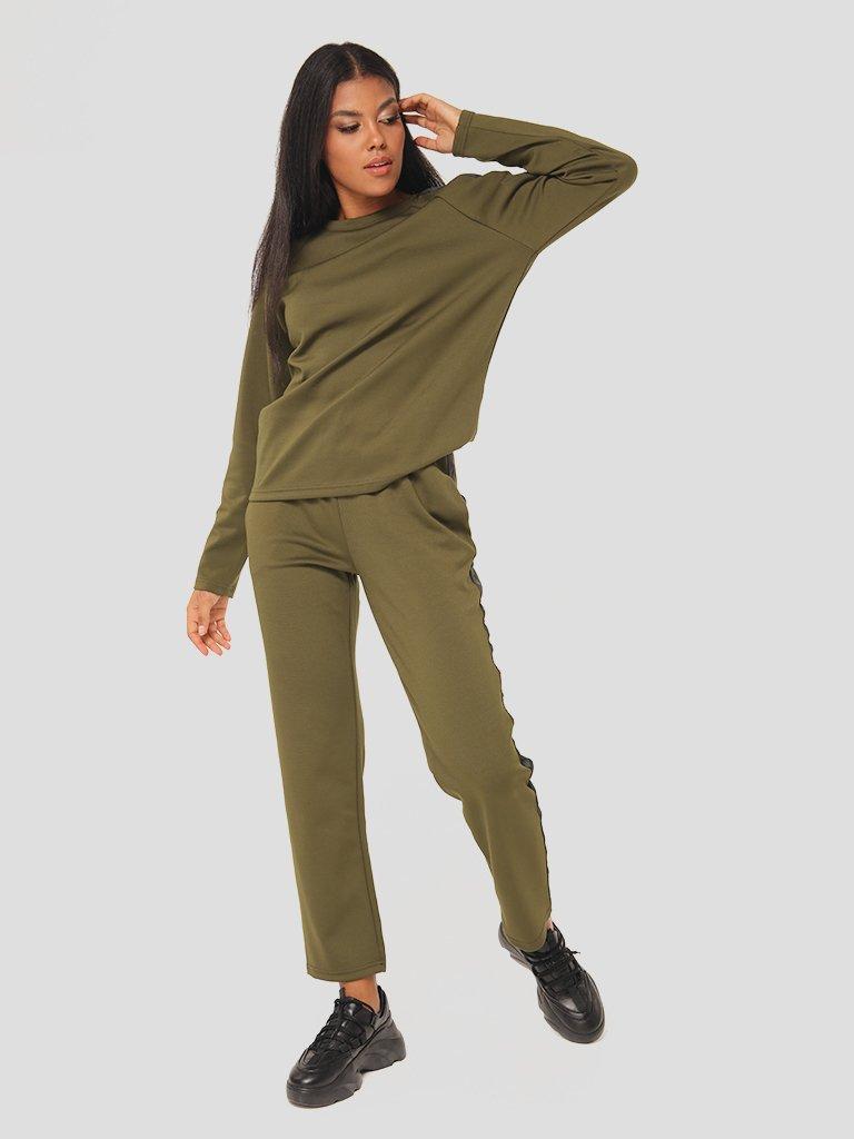 Zestaw w kolorze khaki (bluza, spodnie) Katarina Ivanenko (zdjęcie 4)