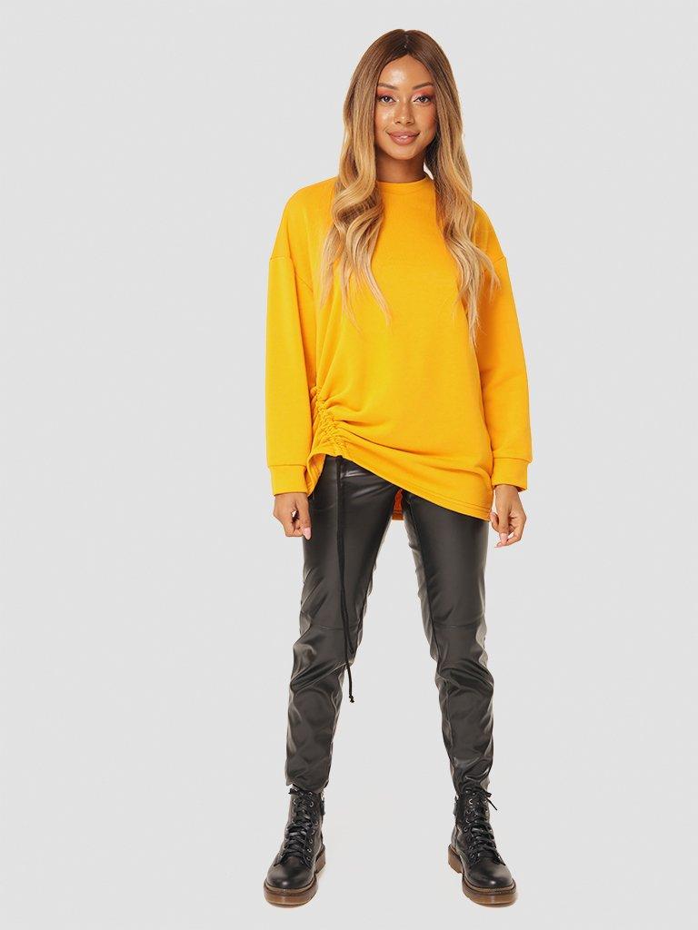 Sweter w kolorze musztardowym ze ściągaczem Katarina Ivanenko (zdjęcie 2)