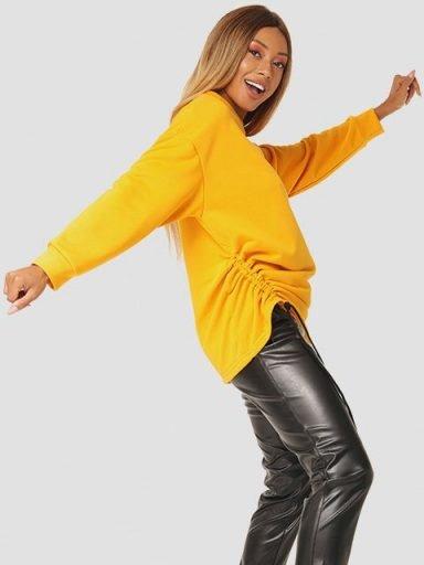 Sweter w kolorze musztardowym ze ściągaczem Katarina Ivanenko
