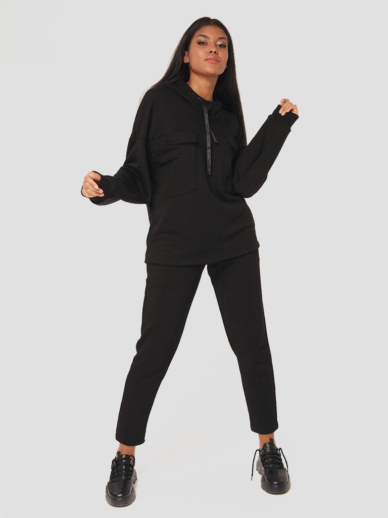 Czarny zestaw dresowy (bluza, spodnie) Katarina Ivanenko (zdjęcie 2)