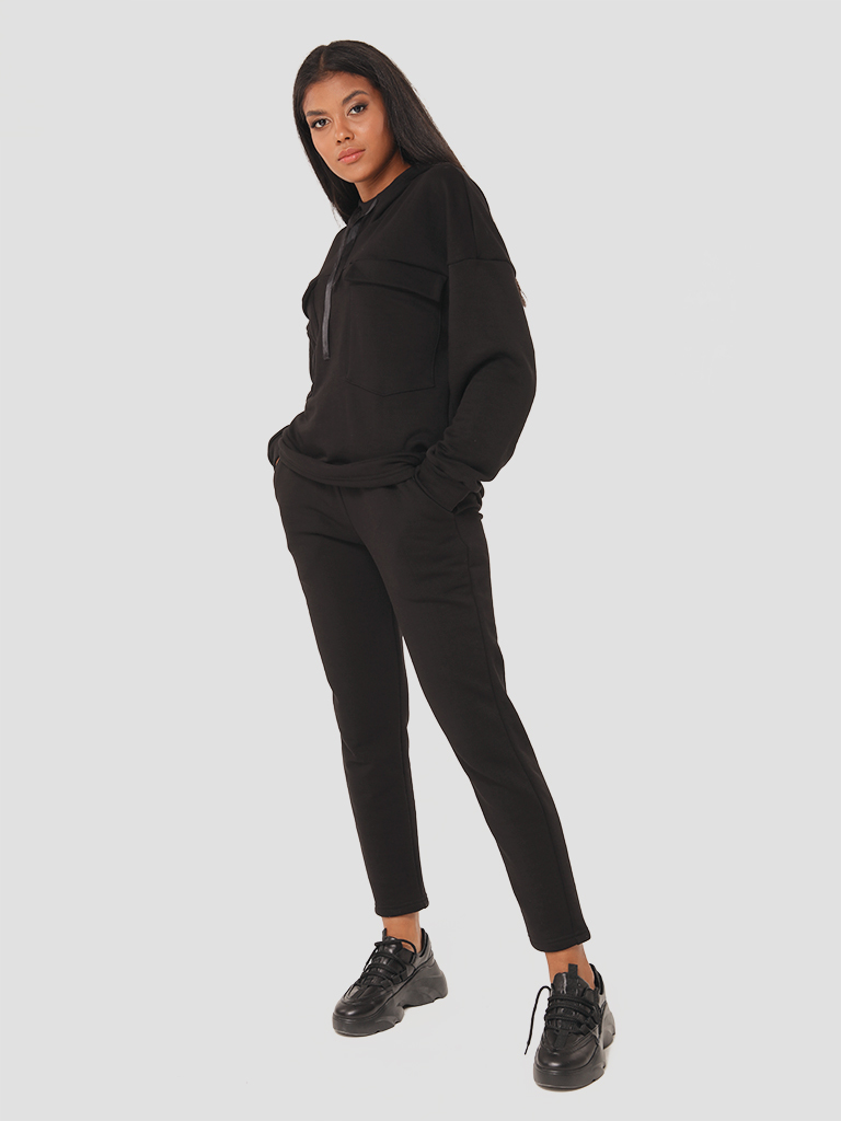Czarny zestaw dresowy (bluza, spodnie) Katarina Ivanenko (zdjęcie 3)
