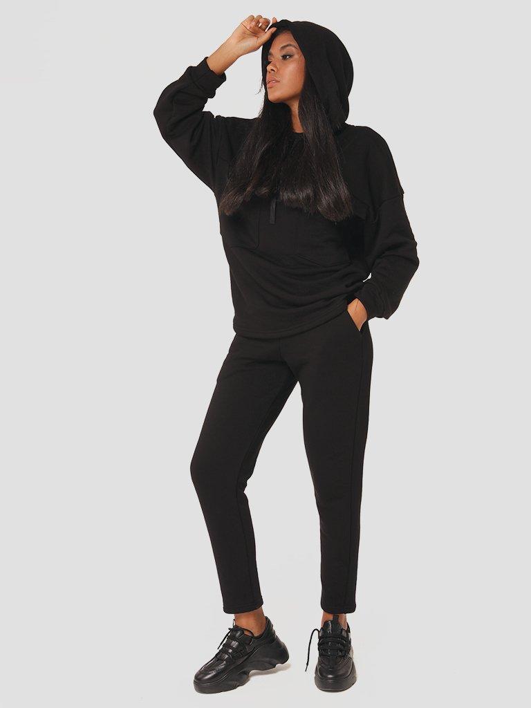 Czarny zestaw dresowy (bluza, spodnie) Katarina Ivanenko (zdjęcie 4)