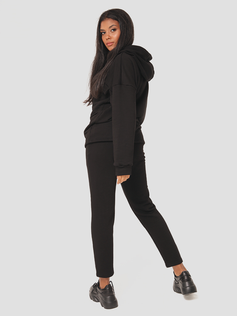 Czarny zestaw dresowy (bluza, spodnie) Katarina Ivanenko (zdjęcie 5)