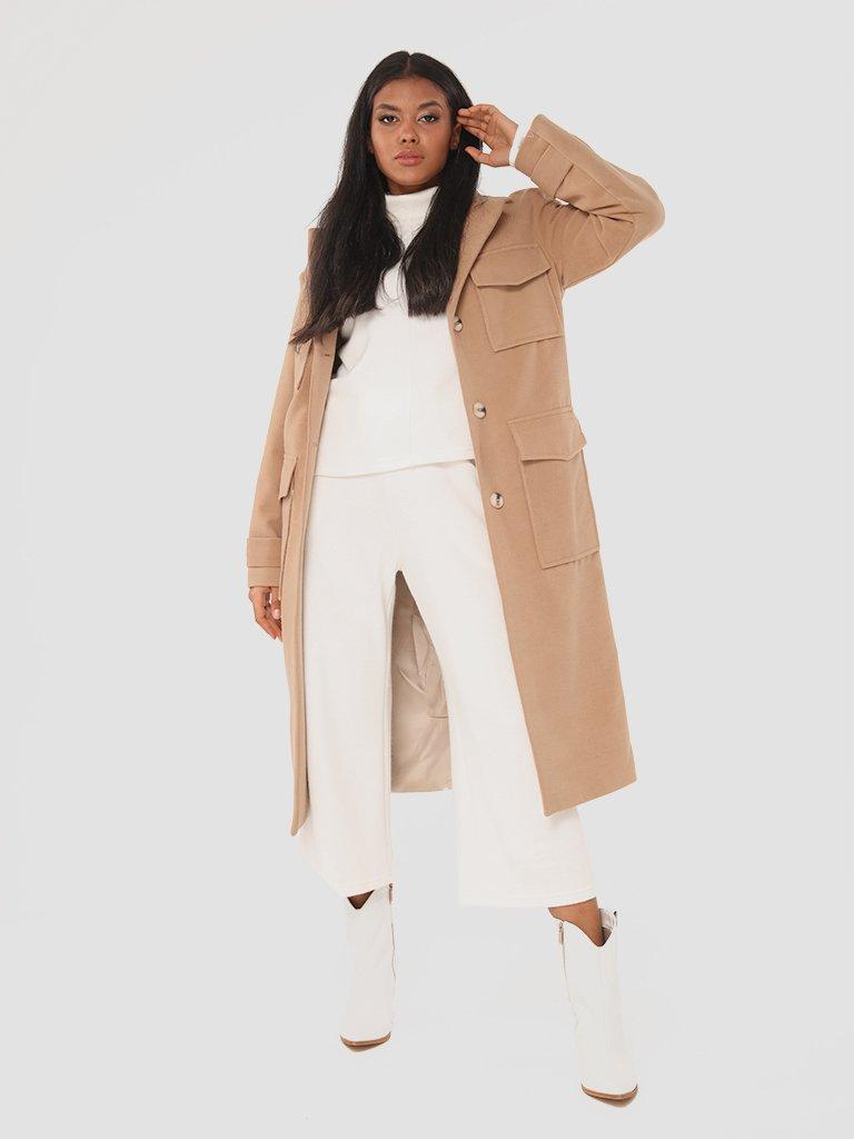 Klasyczny beżowy płaszcz Love&Live (zdjęcie 2)