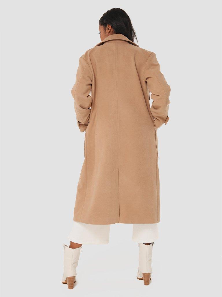 Klasyczny beżowy płaszcz Love&Live (zdjęcie 4)