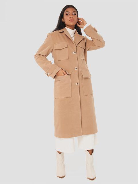 Klasyczny beżowy płaszcz Love&Live