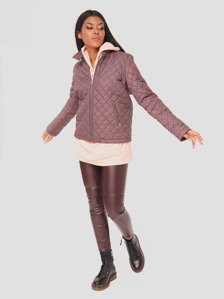 Krótka kurtka pikowana w kolorze czekoladowym Katarina Ivanenko