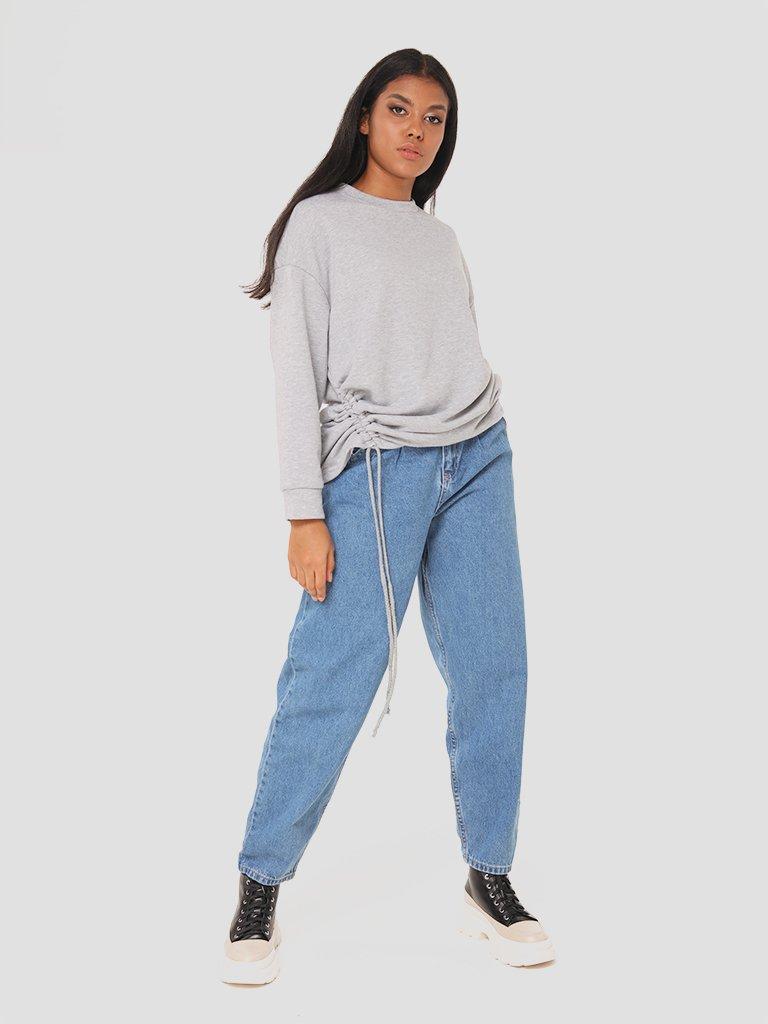Sweter w kolorze jasnoszarym ze ściągaczem Katarina Ivanenko