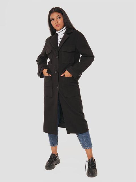 Klasyczny czarny płaszcz Love&Live